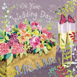 FIZ84  Mrs & Mrs Wedding Day Card